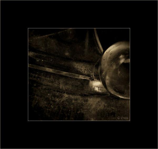 glass broken marble macro sepia
