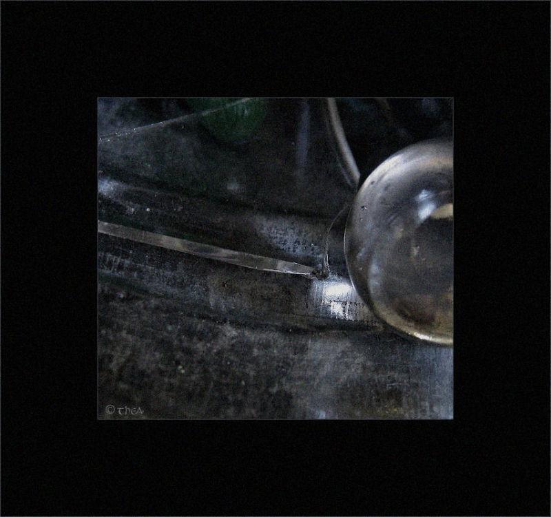 glass broken marble macro