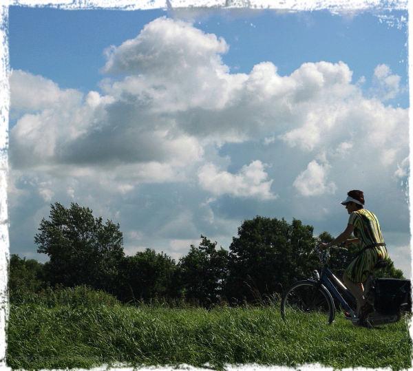 bike summer clouds