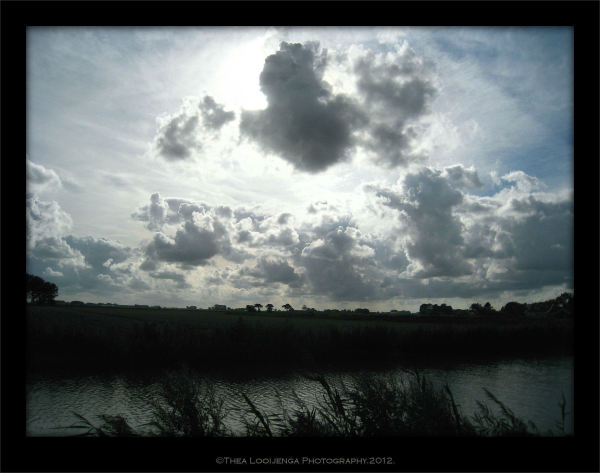 landscape Friesland dark windy