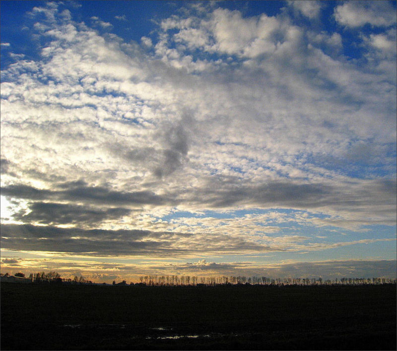 landscape sky clouds Friesland