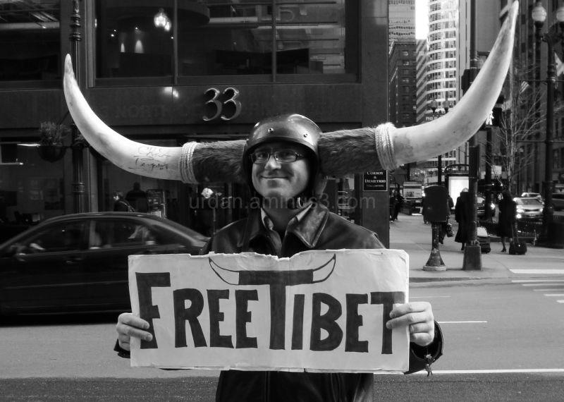 We called him the Free Tibet Man