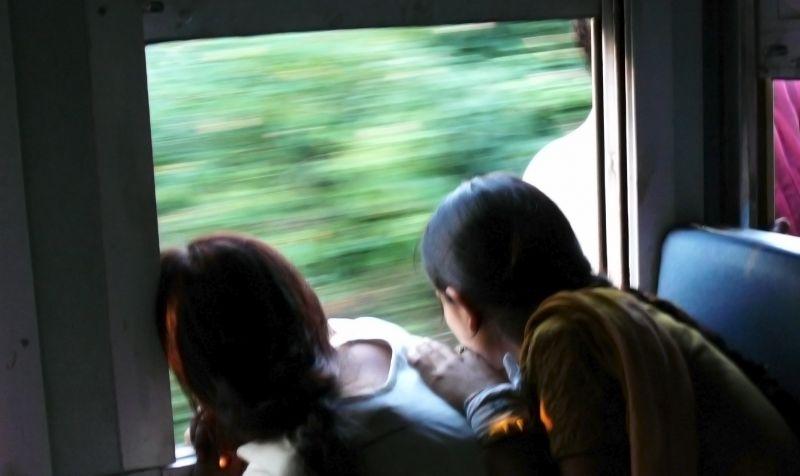 Kids in Kangra Valley train