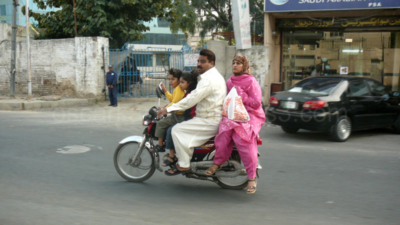 Family ride in Lahore Pakistan