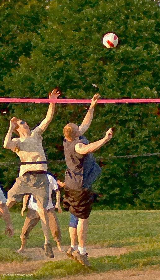 Volleyball in the summer