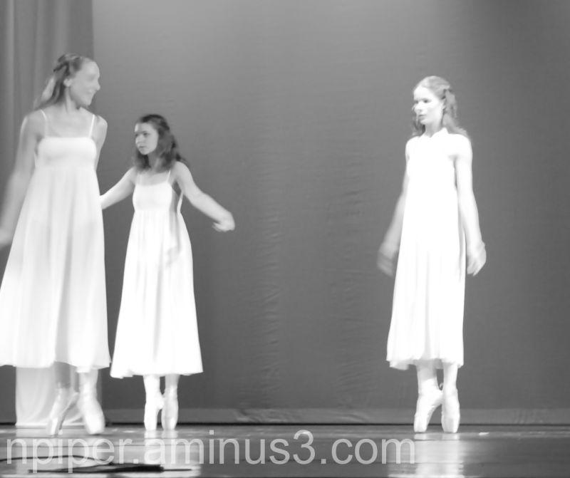 Girls dancing in a ballet recital