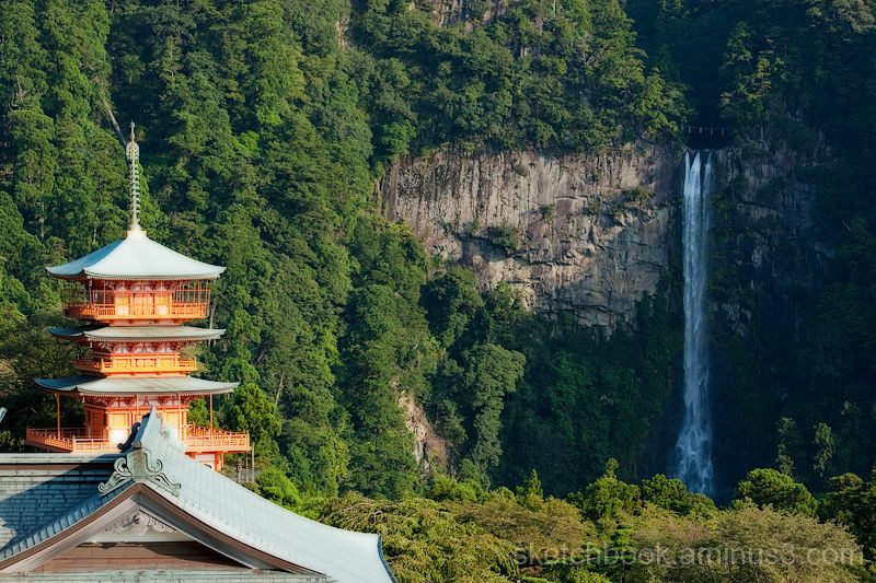 Sanju-no-Toh (Three Storied Pagoda) and Nachi Fall