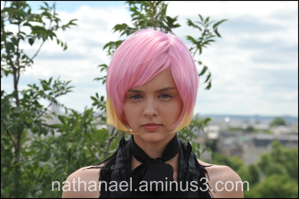 Pink wig...