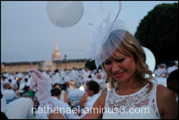 White ballon...