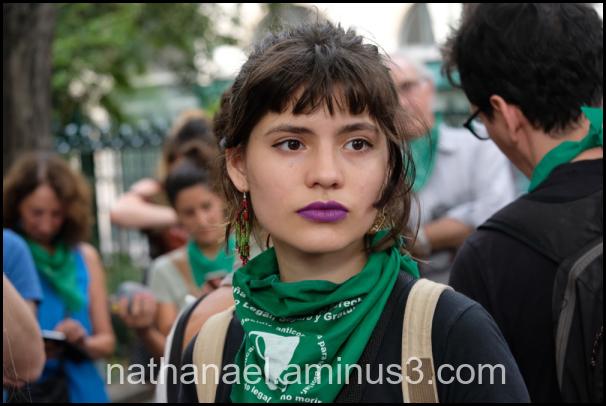 Green girl...