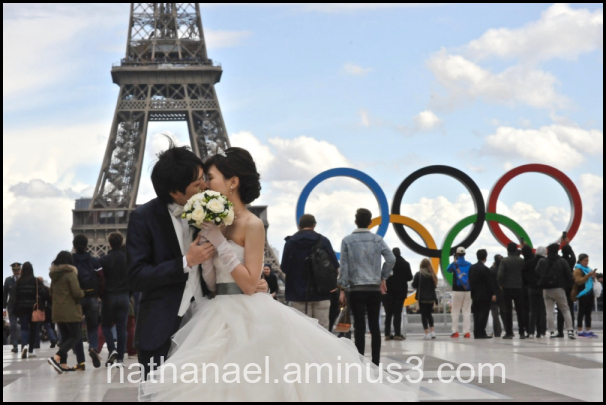 Olympique kiss...