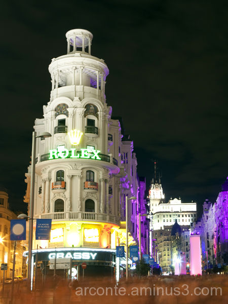 White night in Madrid