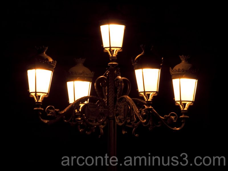 Lights in Madrid night