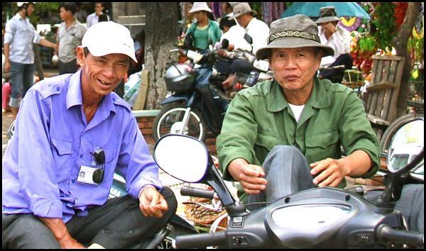someone(s) on motorbikes