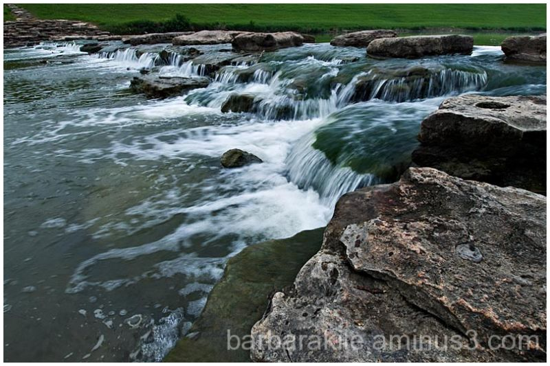 Small waterfall on the Trinity River, Texas