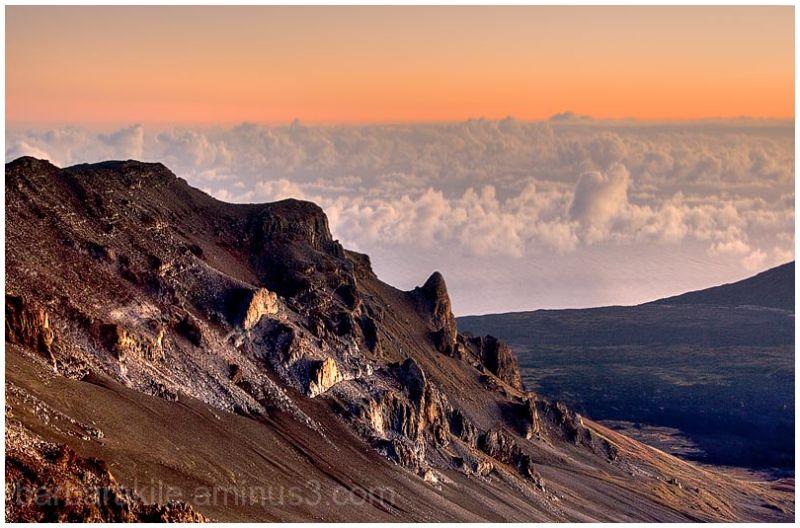Sunrise atop Haleakala volcano