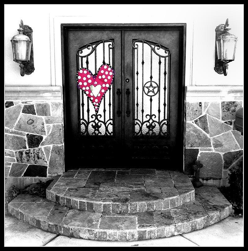 Valentine heart on door