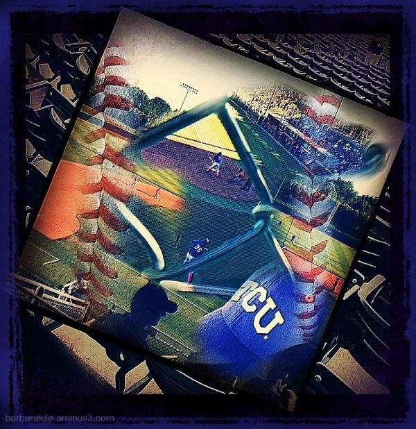 Collage created with college baseball game images