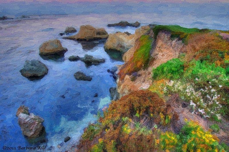 Snap Art painting of Big Sur coastline