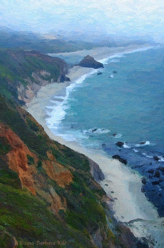 Big Sur coastline and fog