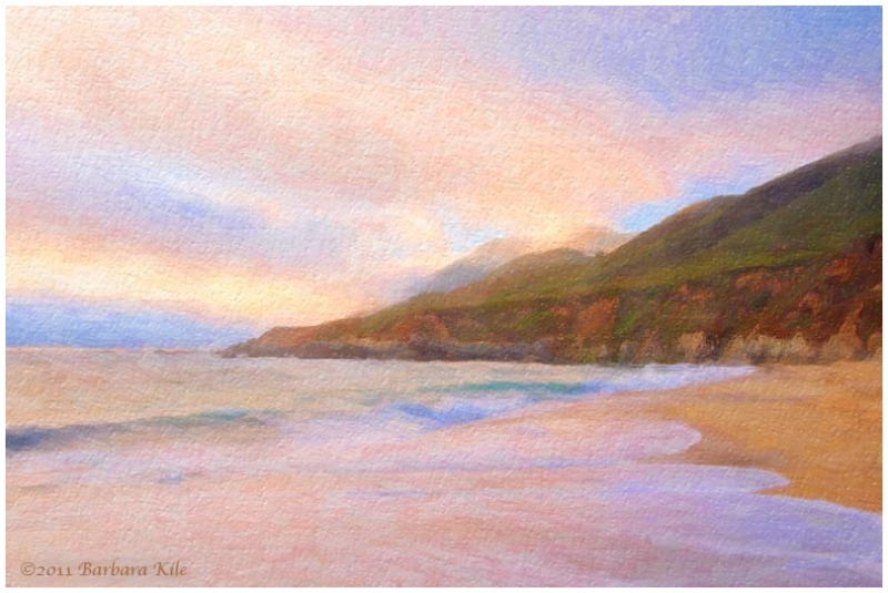 Pastels of sunset, painting
