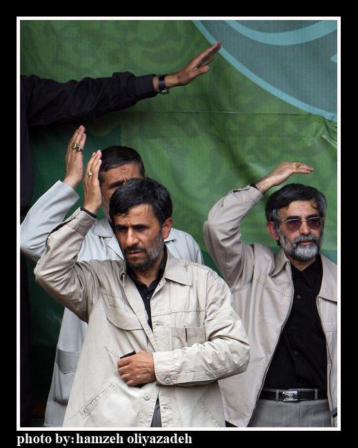 احمدی نژاد در مراسم عزاداری