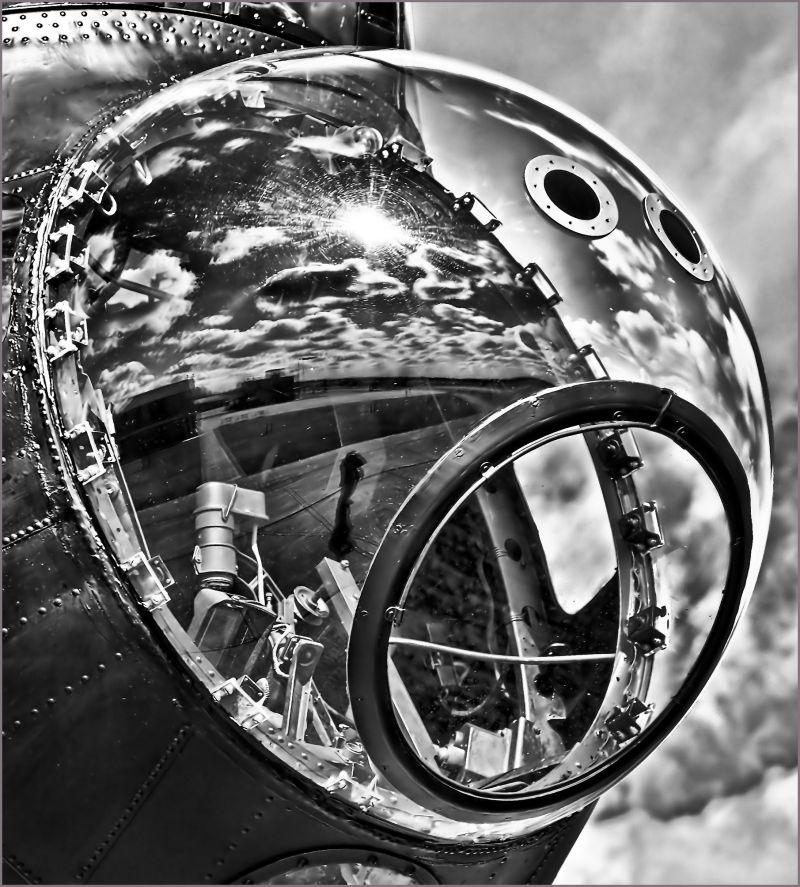 Lancaster bomb-aimers blister