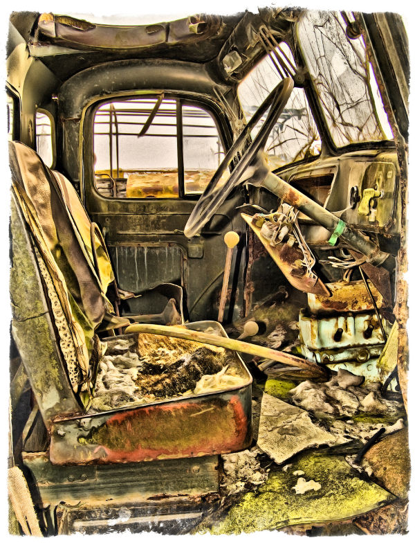 Scrapped vehicle.