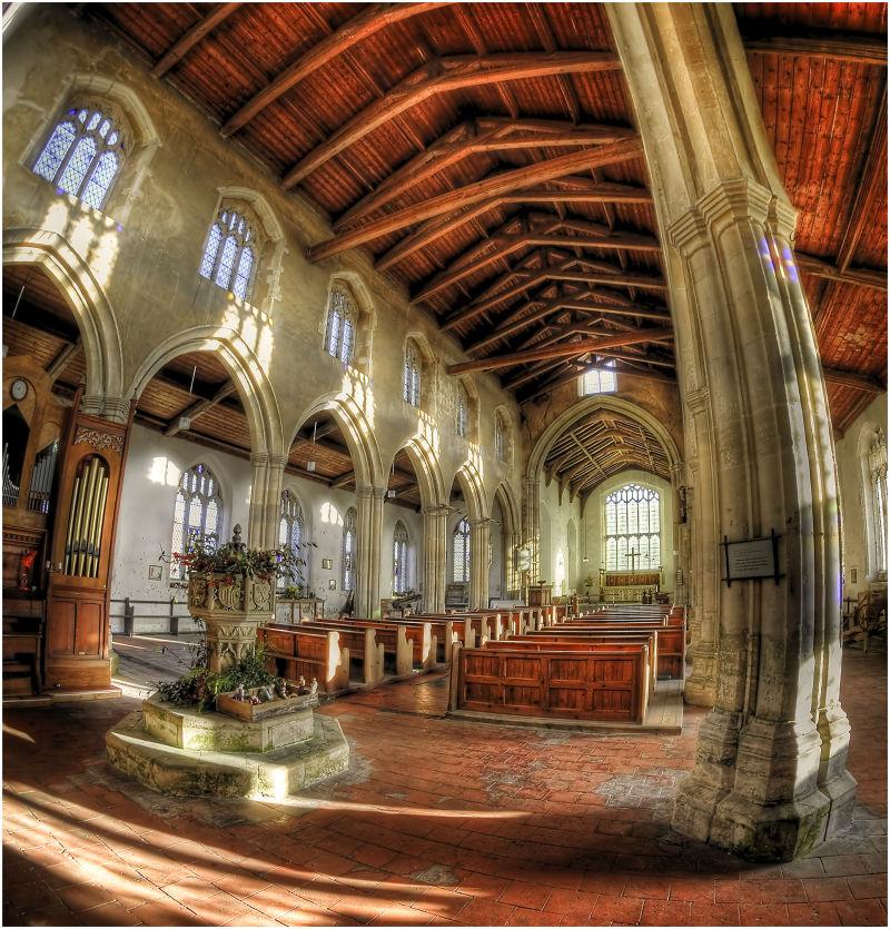 A church interior.