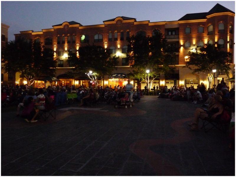 Sugar Land Town Square at Dusk