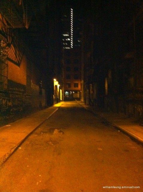 a shady Alley