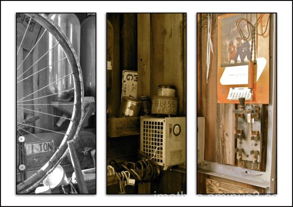 Triptych bicycle shop