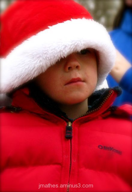 Christmas parade watcher