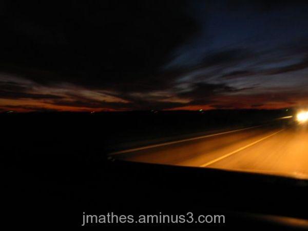 Speeding down the highway