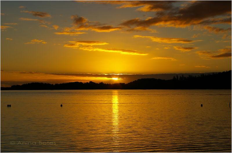 Sunset, Kai Iwi Lake
