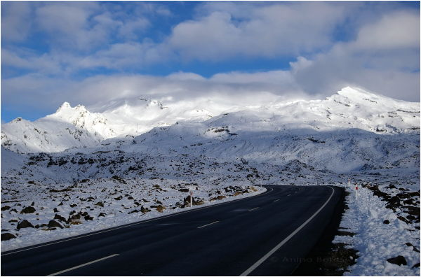 Mount Ruapehu, snow
