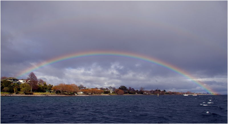 Lake Taupo, Full Rainbow