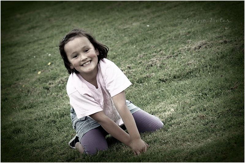 Happy, smiling, girl