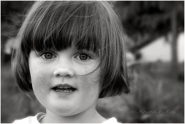 B&W, Portrait, Girl