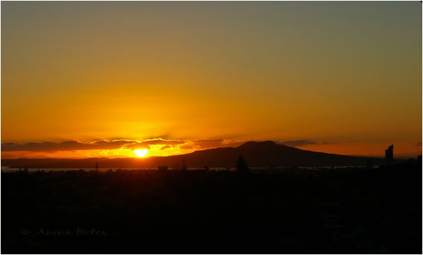 View, Sunset, Rangitoto