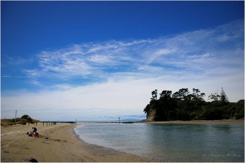 Orewa River, Beach, Ocean, Summer, Blue