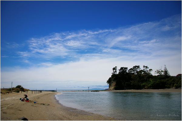 Orewa River, Beach, Ocean, Summer, Blue