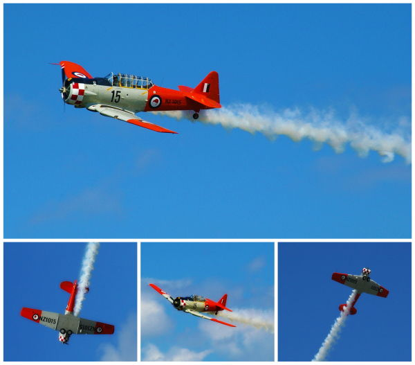 RNZAF, Air Show, Harvards, Warbirds