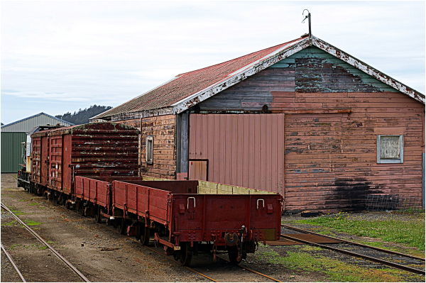 Waihi, Historic, Station, Yard, Goods Shed, Old
