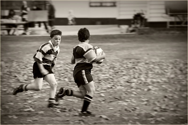 Rugby, Tackle, Boys, Sepia, Motion, NZ