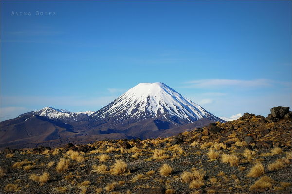Winter, Snow, Landscape, Mount Ngauruhoe, NZ