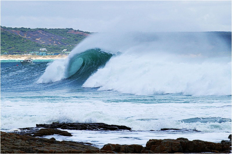 Big Wave, Sea, Blue, Water