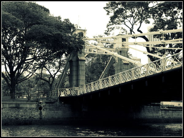 Bridge, Singapore, Sepia