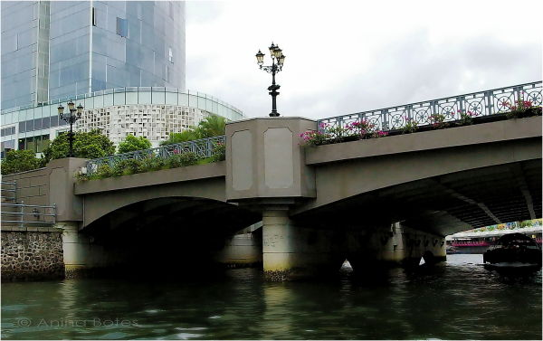 Singapore, Bridge, River, Architecture