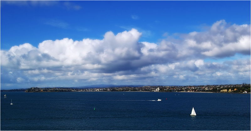 Blue, Winter, Ocean, Auckland, NZ